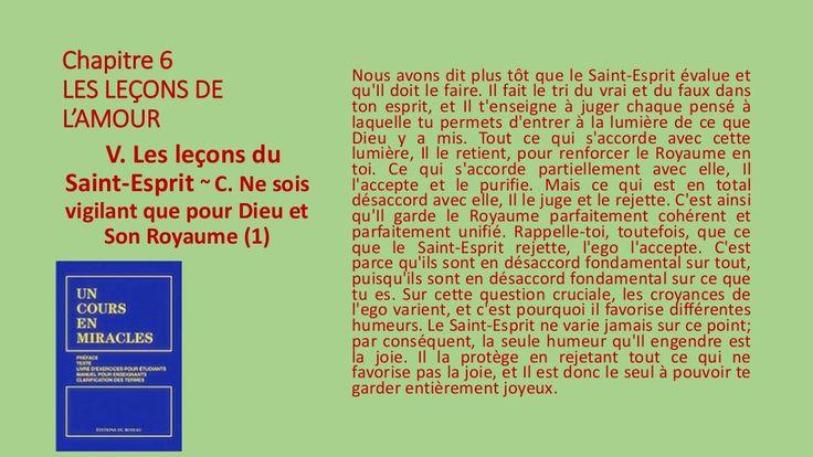 V. Les leçons du Saint-Esprit - C. by Pierrot Caron via slideshare