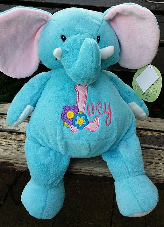 13 best embroidered gifts images on pinterest embroidered gifts personalized baby gift stuffed plush elephant by countryclubgifts negle Choice Image