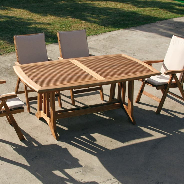 Tavolo da esterno allungabile in legno TeakOnMe TeakOnMe è ...