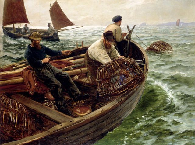 'LAND'S END CRABBERS' by Charles Napier Hemy.