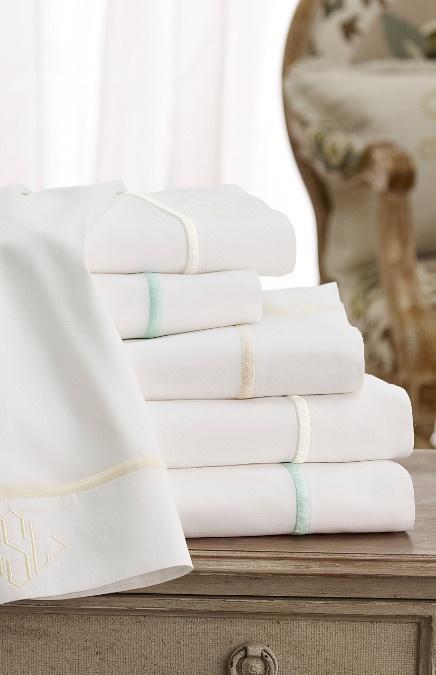 Luxury Sateen Sheet Set - Portuguese Cotton Sheets, Embroidered Sheet Set, Bed Sheets   Soft Surroundings