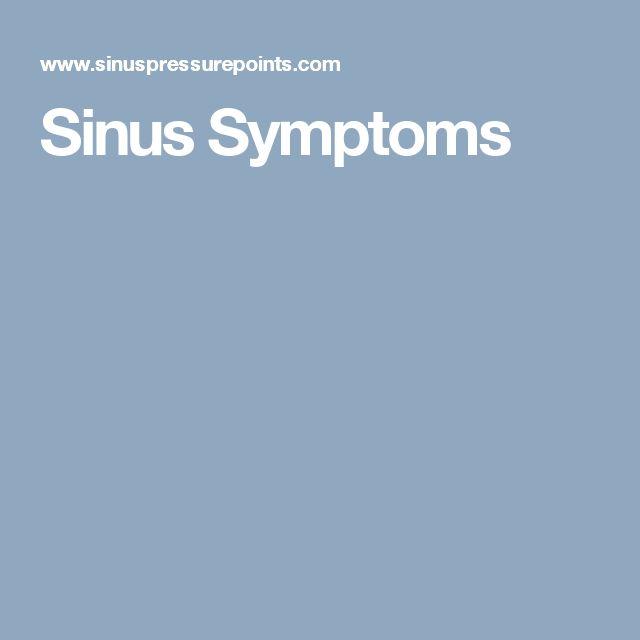 Sinus Symptoms