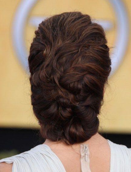 Eva Longorias brunette, updo hairstyle: Hair Beautiful, Eva Longoria Hair, Brunettes Hairstyles, Long Hairstyles, Updo Hairstyles, Hair And Beautiful, Front Poufs, Brunette Updo, Poufs Updo