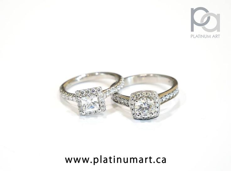 Two Beautiful Halo Rings for the perfect occasion. Have your stone surrounded by diamonds to add that extra special glow to your life.  1-844-787-7348  www.platinumart.ca