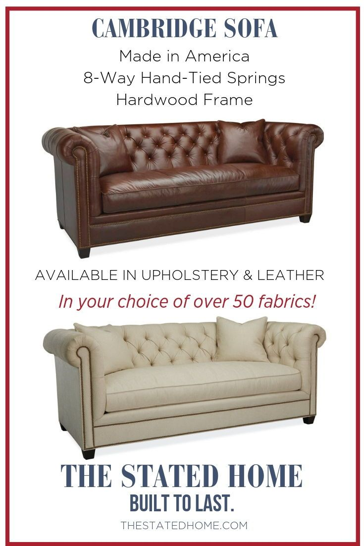 Clic Chesterfield Sofa Works In Traditional Or Masculine Es Made America By Lee Industries With Long Lasting Construction 8 Way Hand Tied