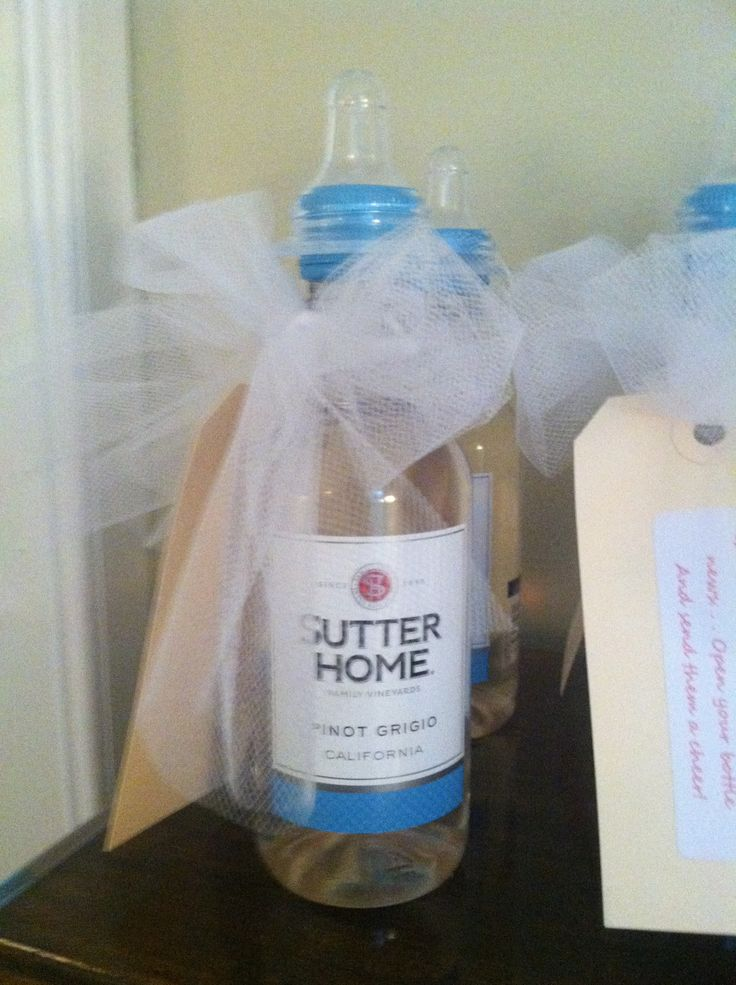 Mini Wine Bottle Favors With Baby Nipple Baby Showers