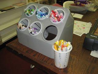 CRAFTY STORAGE: Harriet's idea: Copic (or any pen) storage