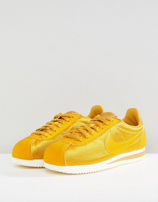 timeless design 5a230 c8327 Sneakers women - Nike Cortez yellow satin
