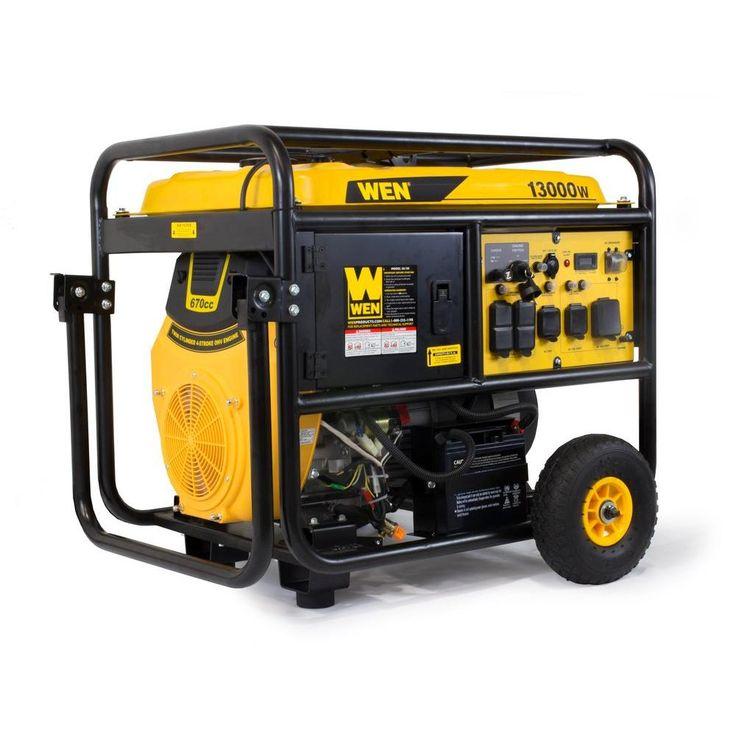 WEN 13,000Watt Gasoline Powered Portable Generator with