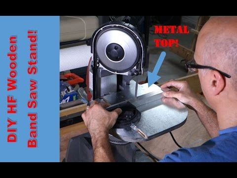 Harbor Freight Portable Band Saw Stand - YouTube