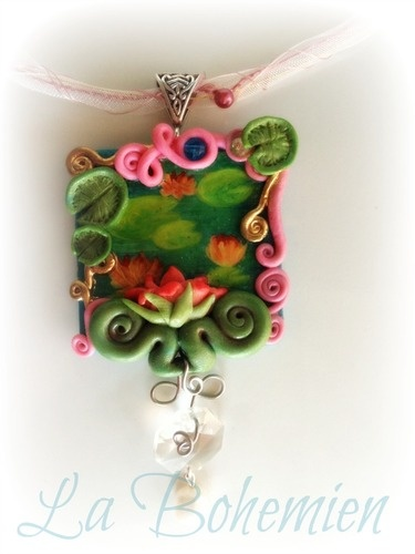 Necklace - Fairy water lilies  Gipsy jewel