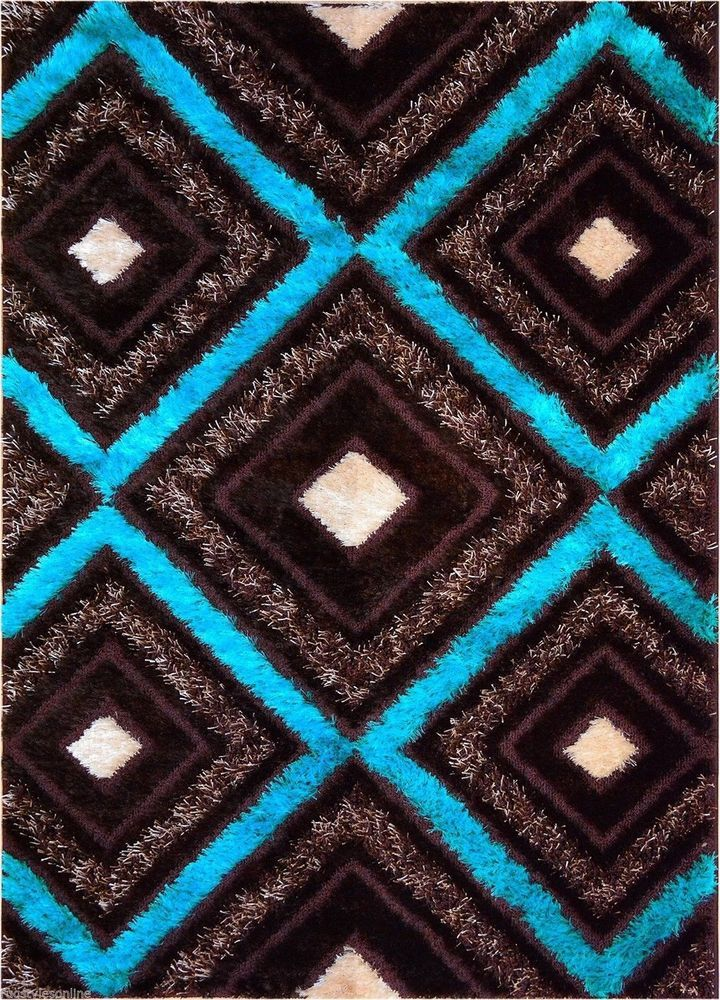 Details About SHAG RUGS AREA RUGS CARPET FLOORING AREA RUG FLOOR MODERN BLUE  RUGS LARGE NEW