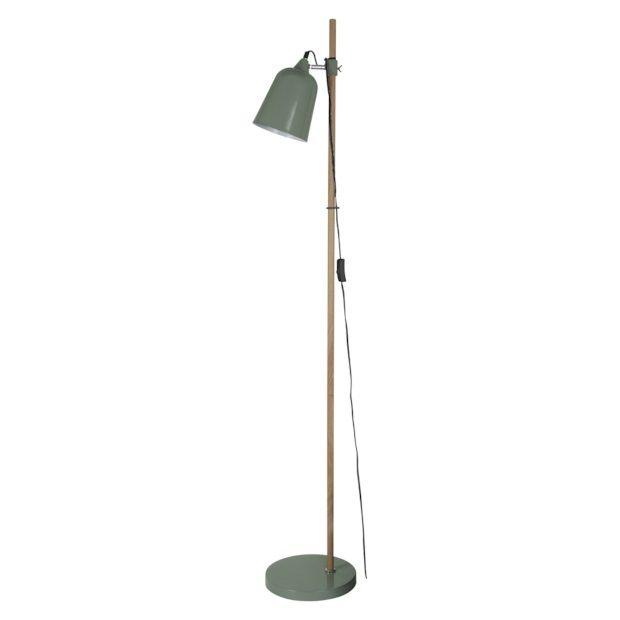 Leitmotiv Wood-like Vloerlamp 149 cm - Groen - afbeelding 1