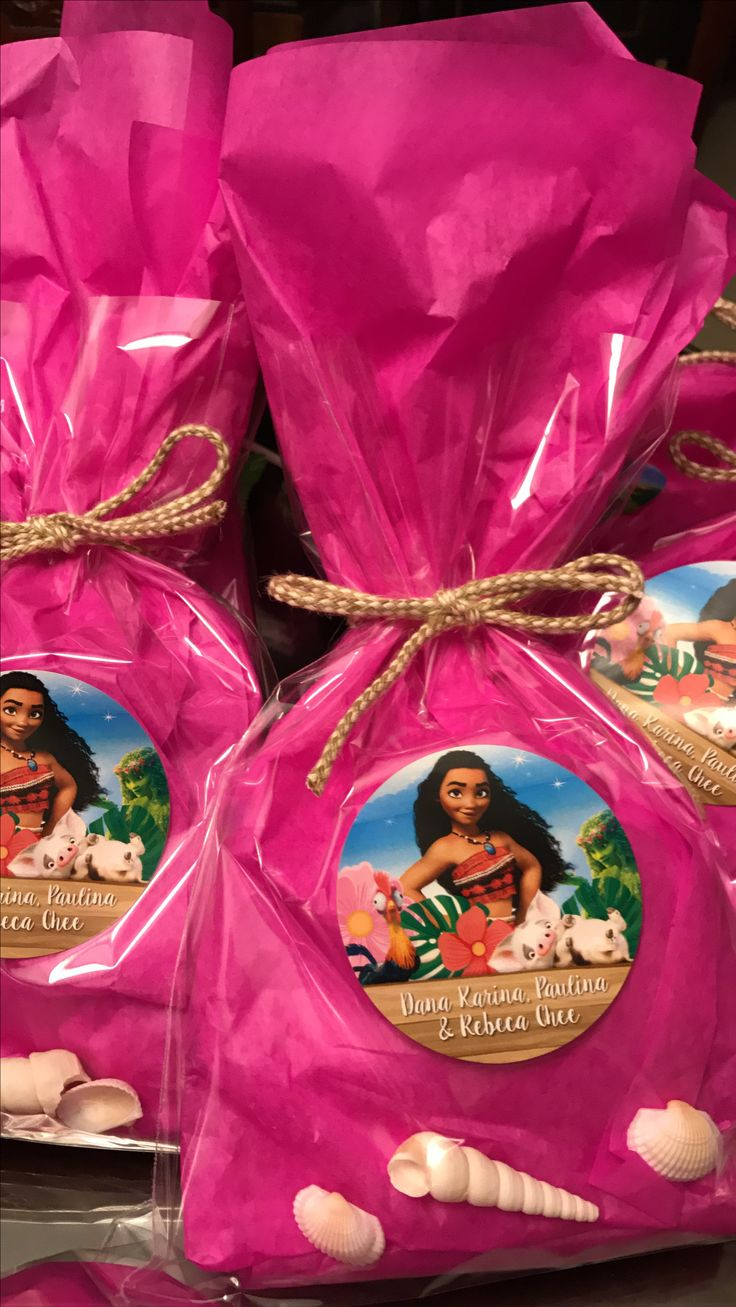 Moana party favor bag for girls.