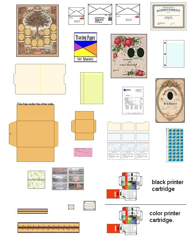 suvasi:   More DIY doll house furniture and accessories from patterns and printable pages.