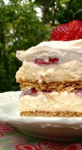 strawberry cream cheese icebox cake