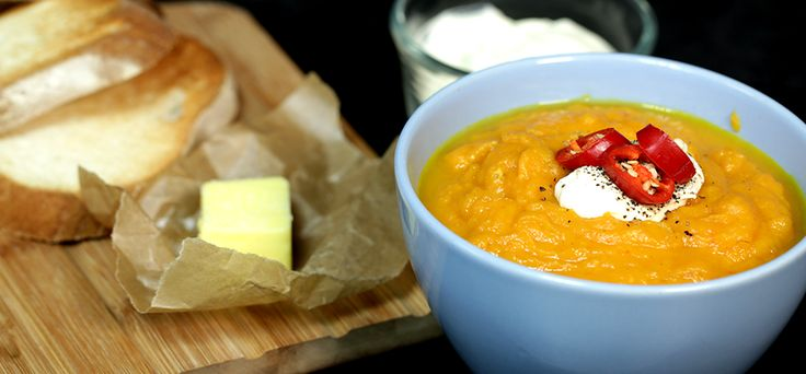 Sweet Potato, Carrot & Chilli Soup