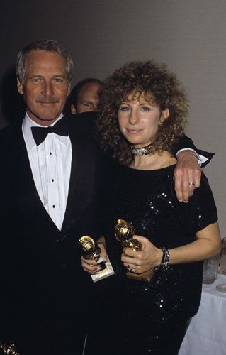"""1984 ~ Barbra Streisand and Paul Newman at """"The 41st Annual Golden Globe Awards"""""""