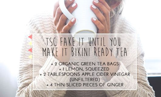 This de-bloating tea helps reduce bloat and is an amazing diuretic. Drink it a couple of hours before putting on that bikini and look thinner!