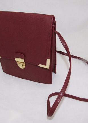 Kup mój przedmiot na #vintedpl http://www.vinted.pl/damskie-torby/torby-na-ramie/8470312-nowa-torebka-bordowa-w-stylu-retro