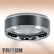 Triton Tungsten Carbide & Ceramic Band For Him