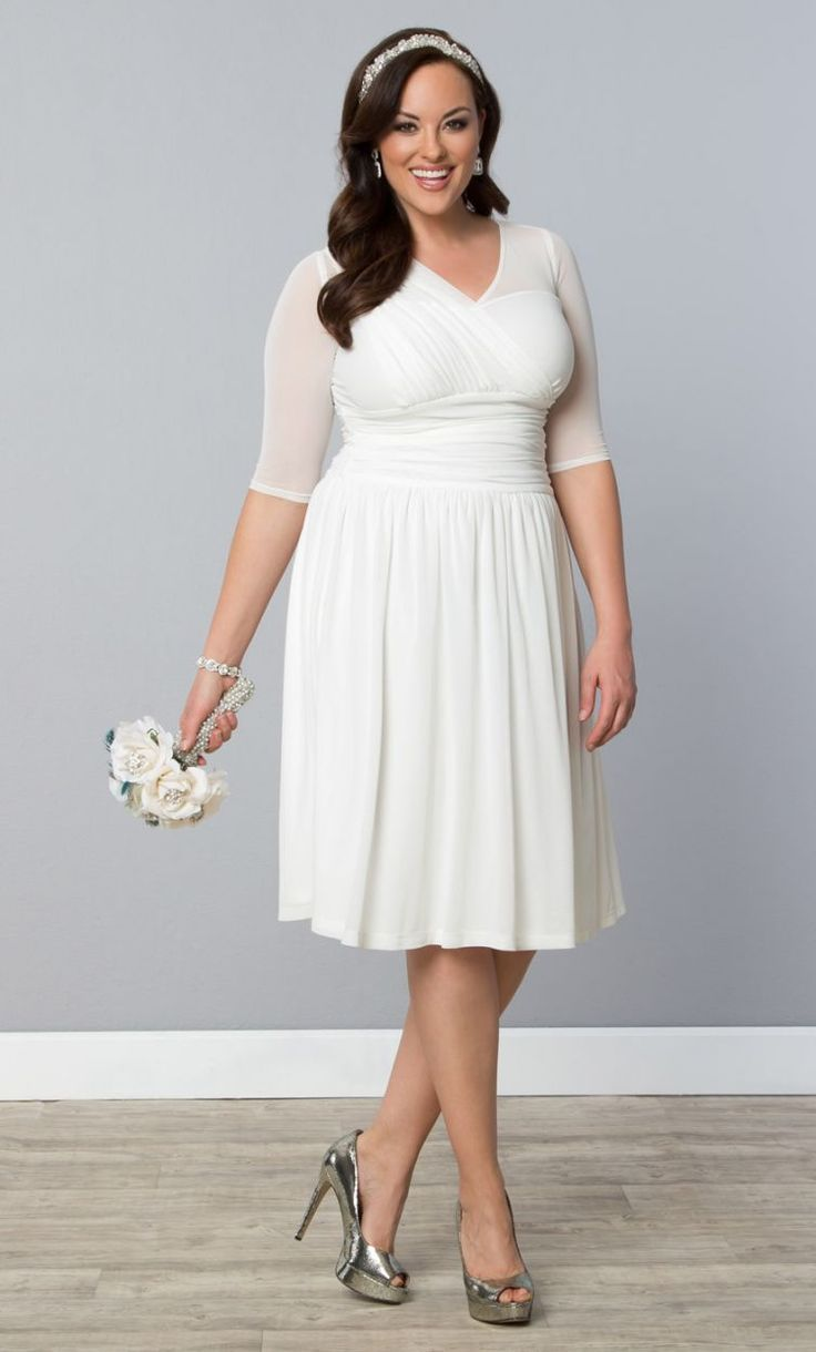 31 best plus size wedding dresses images on Pinterest | Short ...