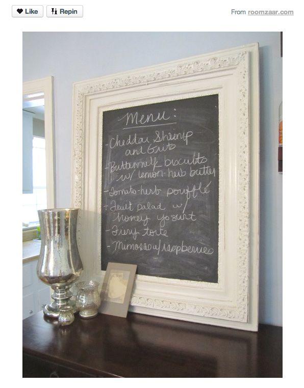 chalkboard.: Buffets, Frames Chalkboards, Boards Menu, Menu Boards, Menu Chalkboards, Chalk Boards, Chalk Board Menu, Beloved Chalkboards, Chalkboards Frames