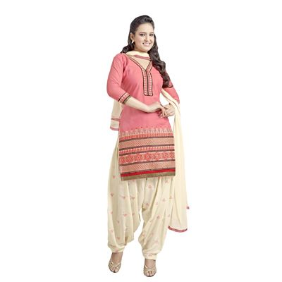 Buy Decent Wears Pink Cotton Dress Material by Decent Wears, on Paytm, Price: Rs.1150