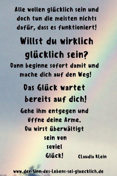 Sprüche: schöne #Sprüche #Zitate #Glück #SinndesLebens