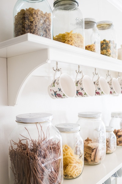 DIY rustic cottage style shelf set