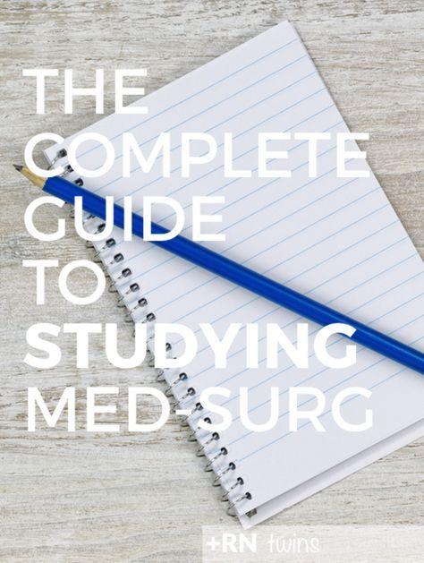 Med-Surg is one of the toughest courses you'll take in nursing school, and in this blog post we reveal one of the best ways that you can study for it.  Click through to check out our step-by-step guide for success in Med-Surg. BONUS: Includes a FREE Study printable!