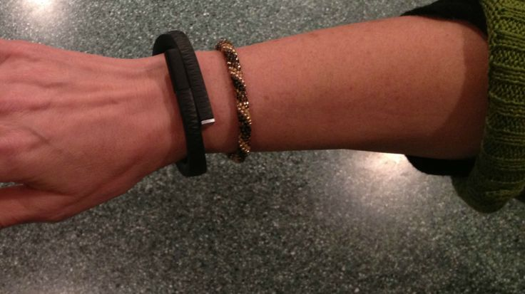 Jawbone Up - bracelet which tracks sleep, movement and calorie.