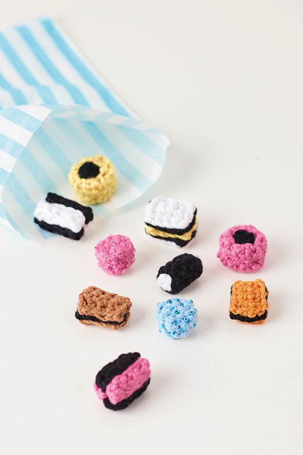 How to crochet Pick 'n' Mix sweets