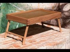 Woodworking for Mere Mortals: Free woodworking videos and plans. : Breakfast-in-bed tray...or a laptop-in-bed tray