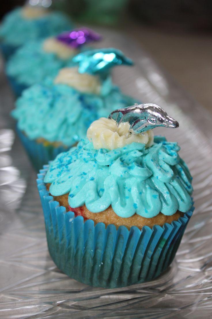 Dolphin Cupcakes I made
