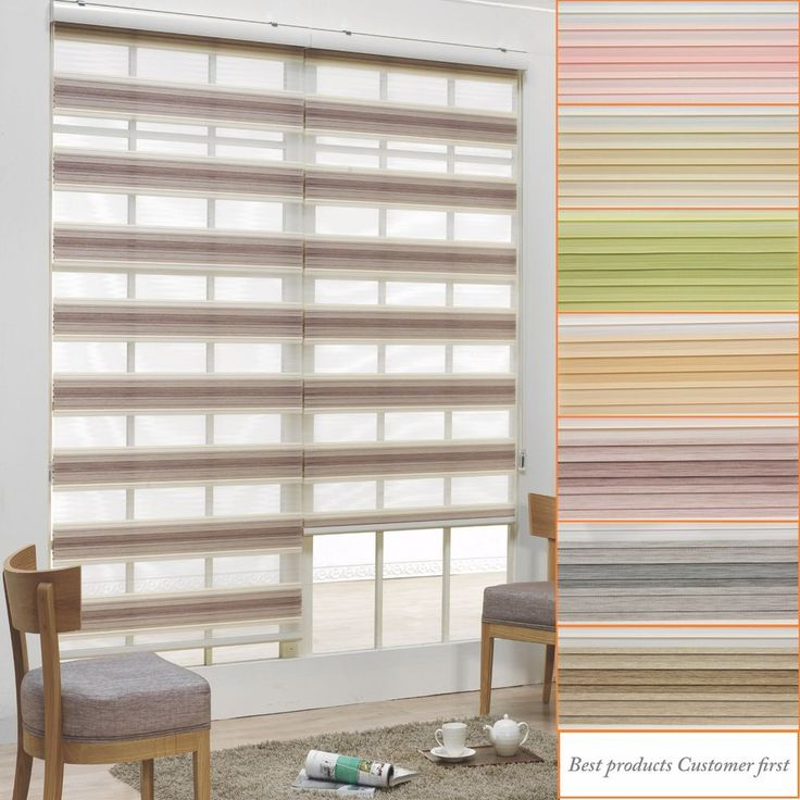 B&C Double Roller blinds Zebra shade Home Window blind 100% Custom made to order #BCKorea