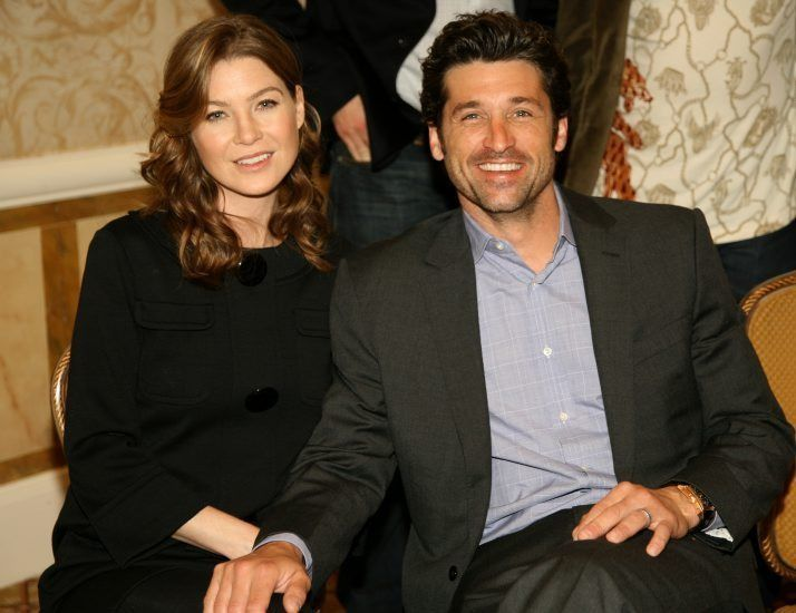 Photo of Patrick Dempsey & his friend actress  Ellen Pompeo - Grey