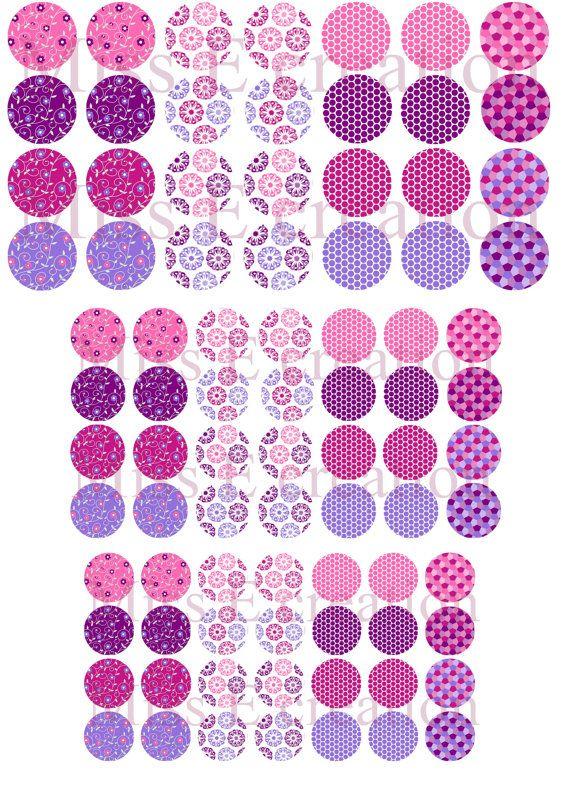 Motifs rose et violetPlanche d'images digitales par missecreation