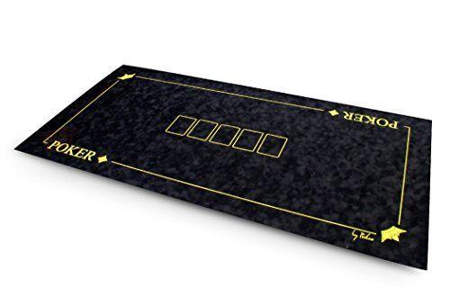 Tapis suédine Texas Poker 120×60 (noir) – SOLDES !: Tapis de poker «Texas Poker» 120x60cm en suédine bulgommée de couleur bleue.…