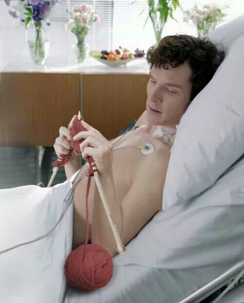 Just Sherlock here. Knitting.
