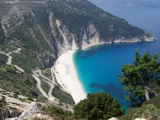 myrtos beach in greece<3