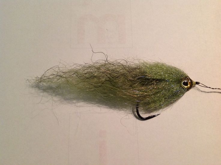 Natural Olive Brush Fly Size 2o Tied by Bruce Home
