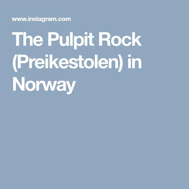 The Pulpit Rock (Preikestolen) in Norway