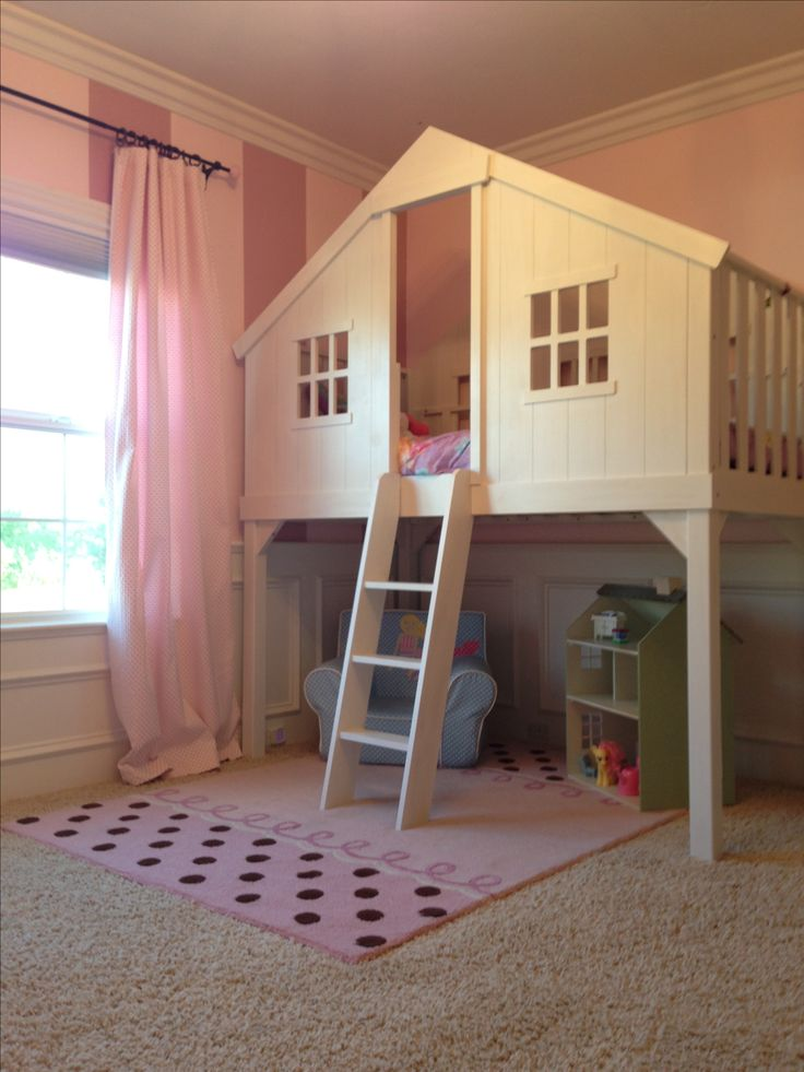 Baby girls room loft tree house bed kid style stuff for Cool beds for small bedrooms