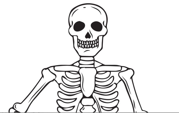 Printable Skeleton Coloring Page for Kids in 2020 ...