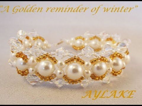 """Bracelet """"Frosted waves"""" step by step tutorial - YouTube"""