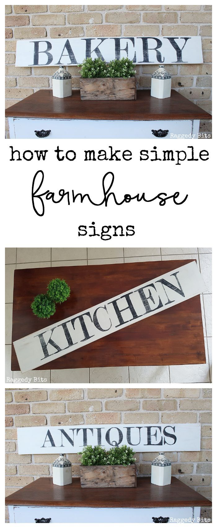 How To Make Farmhouse Bakery Antiques Kitchen Signs Farmhouse Kitchen Signs Farmhouse Signs Diy Kitchen Sign Diy