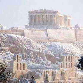 Good morning from beautiful snowy Athens, Greece. #athens #parthenon #acropolis #greece #hellas #greek #greeks #greeklife