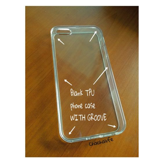 DIY Groove TPU Blank Clear Phone Case For by ChaChaLifeCraft