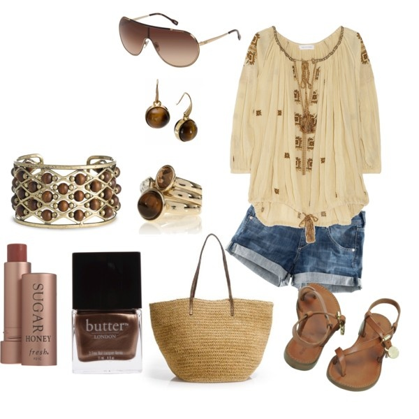 Brown and Tan: Summer Wear, Summer Outfit, Beachwear Somebeachtan, Oakley Sunglasses, Cute Outfit, Denim Shorts, Beaches Babes, Beaches Wear, Summer Time